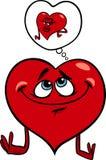 Heart in love cartoon illustration Royalty Free Stock Photos