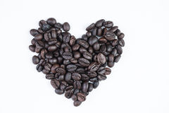 Heart of love with  cup coffee Royalty Free Stock Images