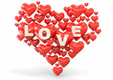 Heart and Love -3D Stock Images