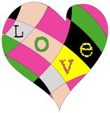 Heart and love design Stock Images