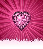 HEART OF LOVE / Diamond heart / vector background Stock Photo