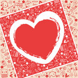 Heart love   - Doodles collection Royalty Free Stock Image