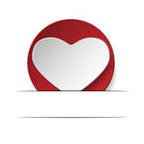 Heart of love .eps10. Red heart on a white background Stock Images