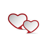 Heart of love .eps10. Red heart on a white background Stock Image