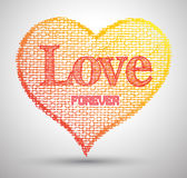 Heart love forever drawings abstract Royalty Free Stock Photo