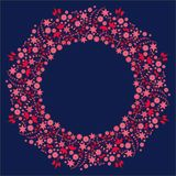Heart, love, frame, white, red, valentine, isolated, flower, decoration, shape, symbol, abstract, pattern, pink, floral, celebrati. Floral ornament blue wreath Royalty Free Stock Photography