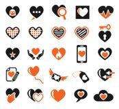 Heart love icon set Royalty Free Stock Photography