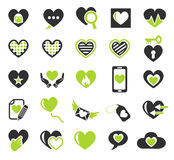heart love icon set Royalty Free Stock Image