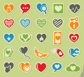 Heart love icon set Stock Images