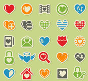 Heart love icon set Royalty Free Stock Photos