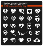 Heart love icon set Stock Photography