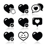 Heart, love  icons set Royalty Free Stock Images