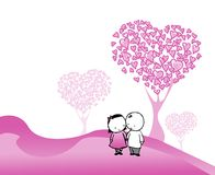 Heart love illustration Stock Images