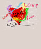 Heart and love illustration,copy sace Royalty Free Stock Photos