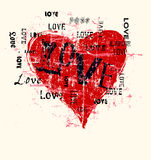 Heart and love illustration Royalty Free Stock Photography
