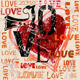 Heart and love illustration Royalty Free Stock Photos