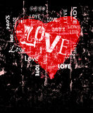 Heart and love illustration Royalty Free Stock Photo