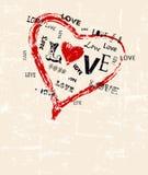 Heart and love illustration Stock Photo