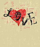 Heart and love illustration, Royalty Free Stock Photos