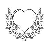 Heart love isolated icon vector illustration