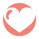Heart love isolated icon Stock Images