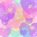 Heart love light. Vector graphic illustration design art Stock Images