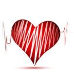 Heart of love logo stock illustration