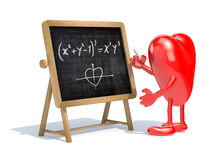 Heart love math formula Royalty Free Stock Photos