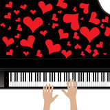 Heart love music piano Stock Images