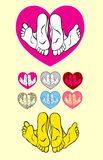 Heart love ornament Royalty Free Stock Photos