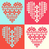 Heart, love, ornament, pattern. Royalty Free Stock Images