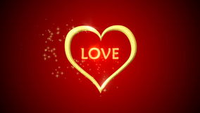 Heart and love particle background stock footage