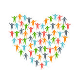 Heart Love by People logo stock photo