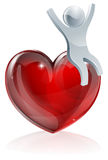 Heart love person Royalty Free Stock Photos