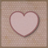 Heart love on retro background made from recycled paper craft Stock Photo
