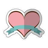 Heart love with ribbon Royalty Free Stock Photo