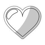 Heart love romantic outline Stock Images