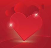 Heart love romantic red background vector Royalty Free Stock Photo