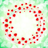 Heart Love Round Circular Swirl Around Background Green Royalty Free Stock Photos