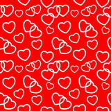 Heart love seamless pattern background. Vector Royalty Free Stock Photography