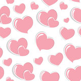 Heart Love Seamless Pattern Background Vector Stock Photo