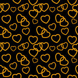 Heart love seamless pattern background. Vector Royalty Free Stock Photos