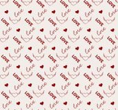 Heart and love seamless pattern in vector Royalty Free Stock Image