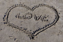 Heart Love on seaside Stock Photography