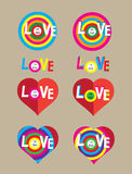 Heart love set Stock Photos
