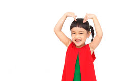 Heart and love sign. With little girl Stock Photography