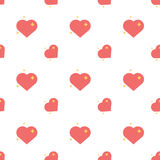 Heart Of Love Spark Seamless Pattern Stock Photography
