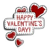 Greeting card for Valentines Day Royalty Free Stock Images