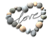 Heart Love Stones Stock Image