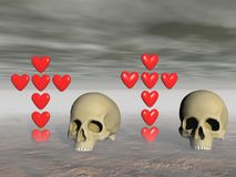 Love and death - 3d rendering Royalty Free Stock Images